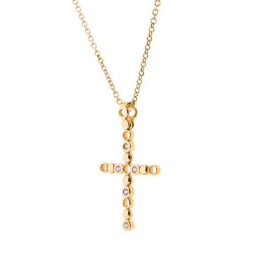 Cross Pendant - gold 18K, diamond