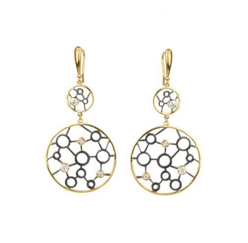 Allegory Earrings - silver, zircon
