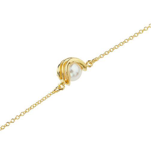 Energy Bracelet - gold, pearl