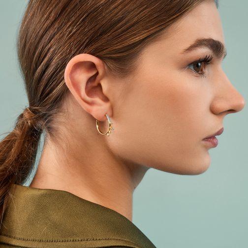 Χρυσά Σκουλαρίκια Aesthesis - σμάλτο