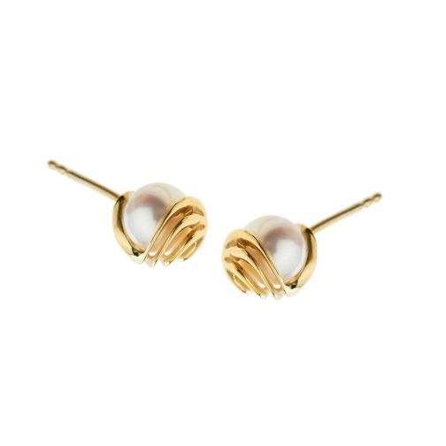 Energy  Earrings - gold, pearl