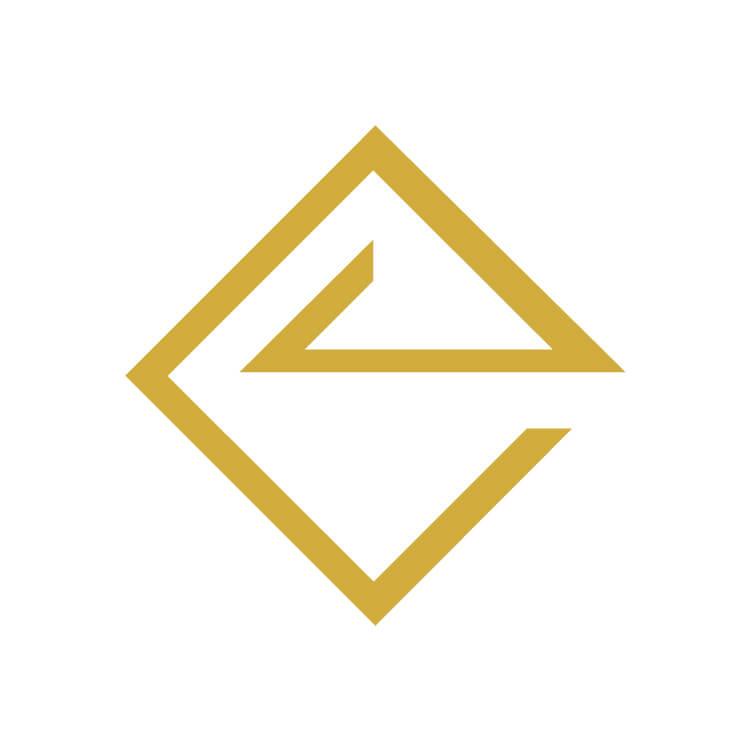 Χρυσά Σκουλαρίκια Rhea - σμαράγδι, διαμάντι