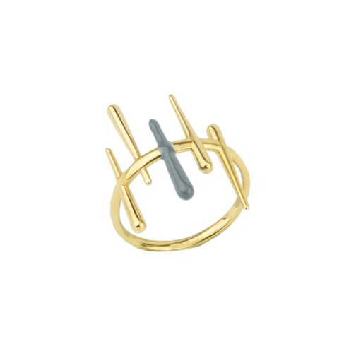 Aesthesis Ring – gold, enamel