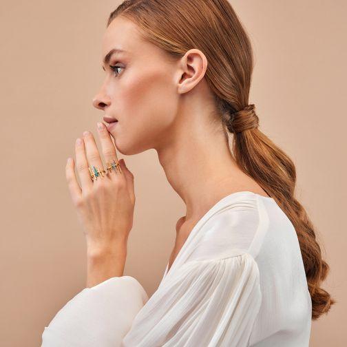Χρυσό Δαχτυλίδι Aesthesis - σμάλτο