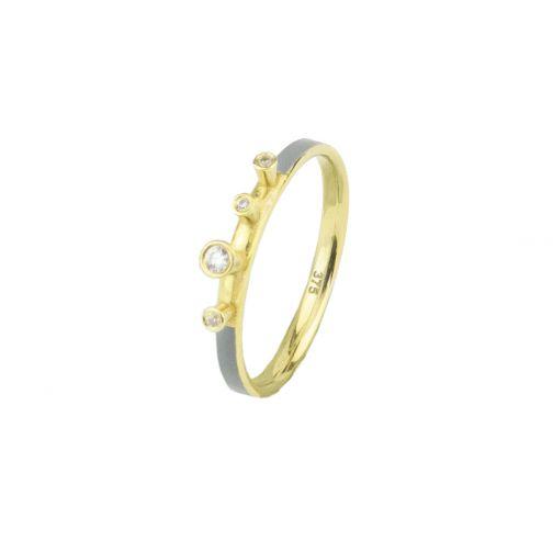 Aesthesis Ring - gold, enamel