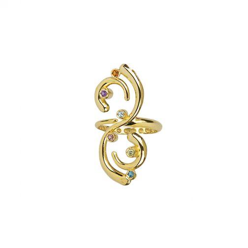 Euphoria Ring - gold, semi-precious stones