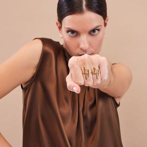 Euphoria Ring - gold, diamond