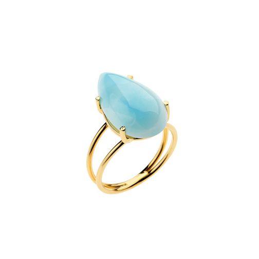 Χρυσό Δαχτυλίδι Lifestones - λάριμαρ