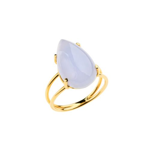 Lifestones Ring - gold, chalcedony