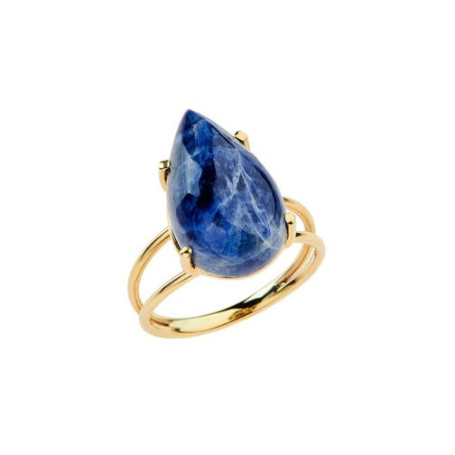 Lifestones Ring - gold, sodalite
