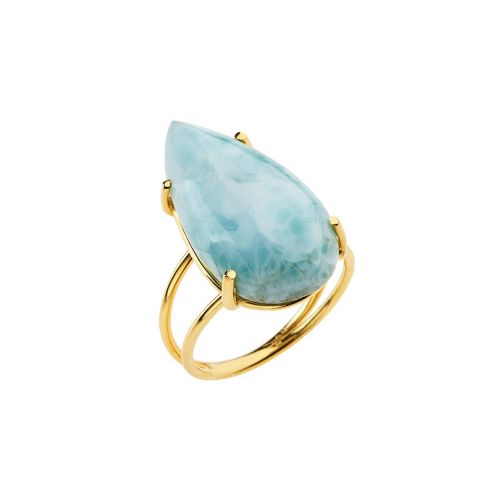 Lifestones Ring - gold,larimar