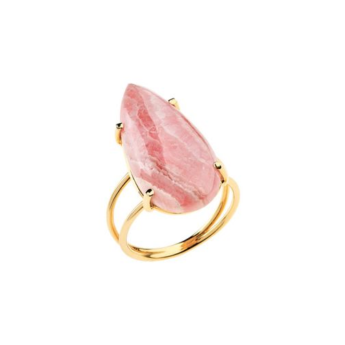 Lifestones Ring - gold, rhodochrosite