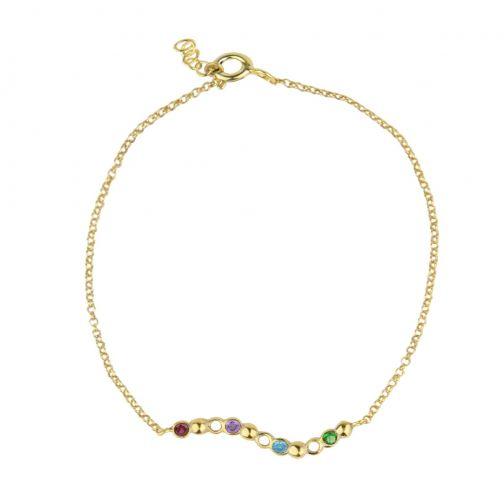 Plethora Bracelet - silver, zircon