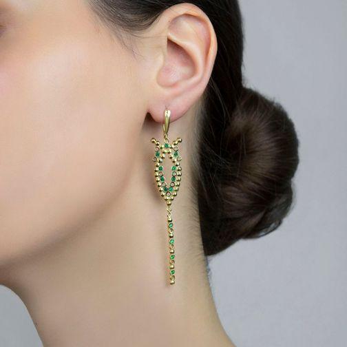 Plethora Earrings - silver, zircon