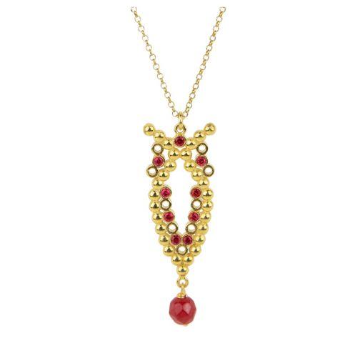 Plethora Necklace - silver, zircon, agate