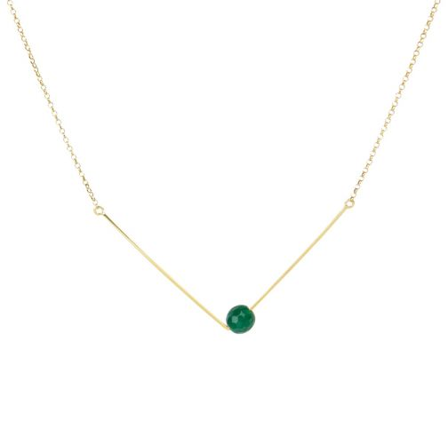 Schemata Pendant - silver, agate
