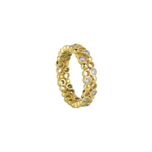 Plethora Ring - silver, zircon