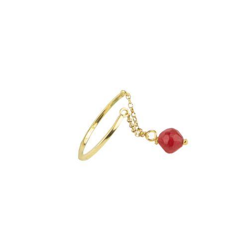Schemata Ring - silver, agate