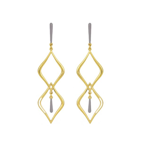 Aesthesis Earrings – gold, enamel