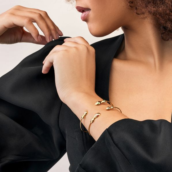Rhea Bracelet - gold, emerald, diamond