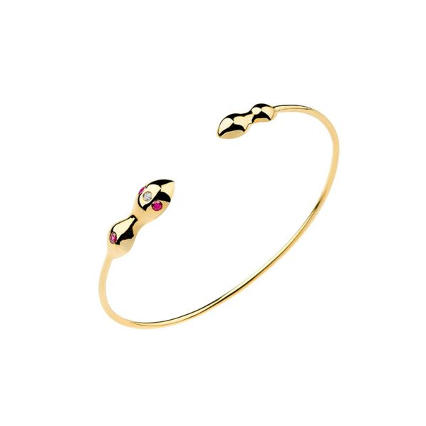 Rhea Bracelet - gold, ruby, diamond