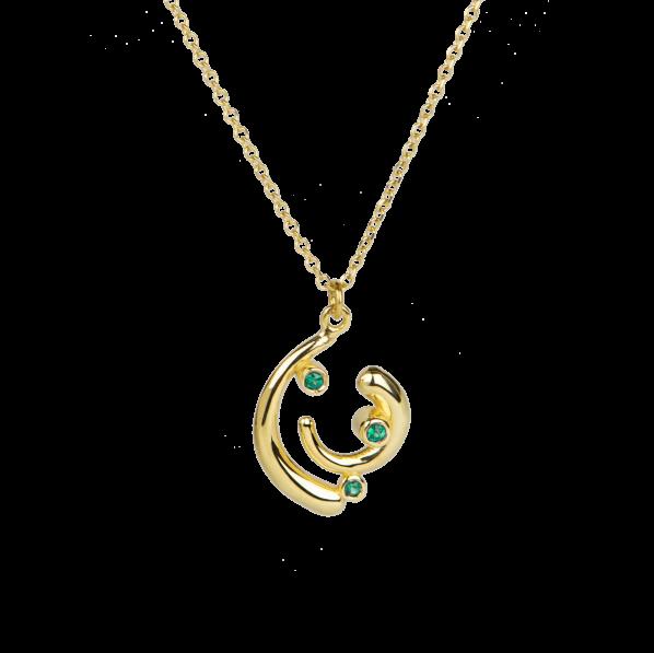 Euphoria Pendant - gold, emerald