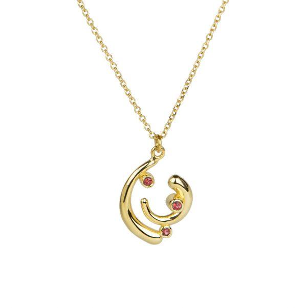 Euphoria Pendant - gold, ruby