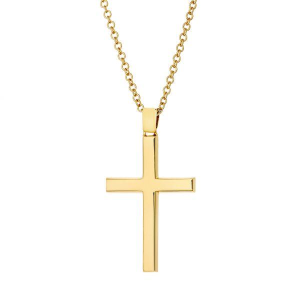 Cross Pendant - gold 18K