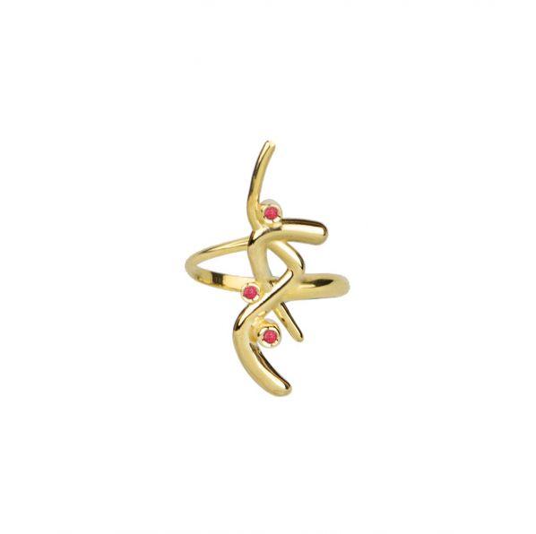 Euphoria Ring - gold, ruby