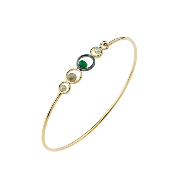 Harmony Bracelet - silver, pearl, agate, labradorite