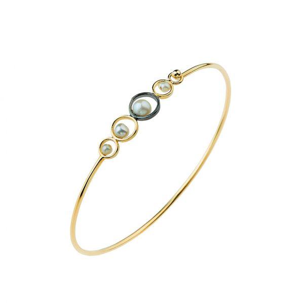 Harmony Bracelet - silver, pearl, labradorite