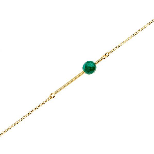 Schemata Bracelet - silver, agate