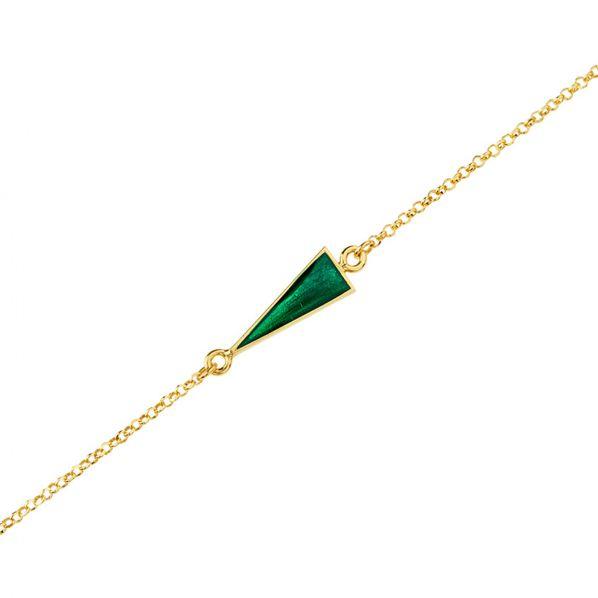Schemata Bracelet - silver, emeral