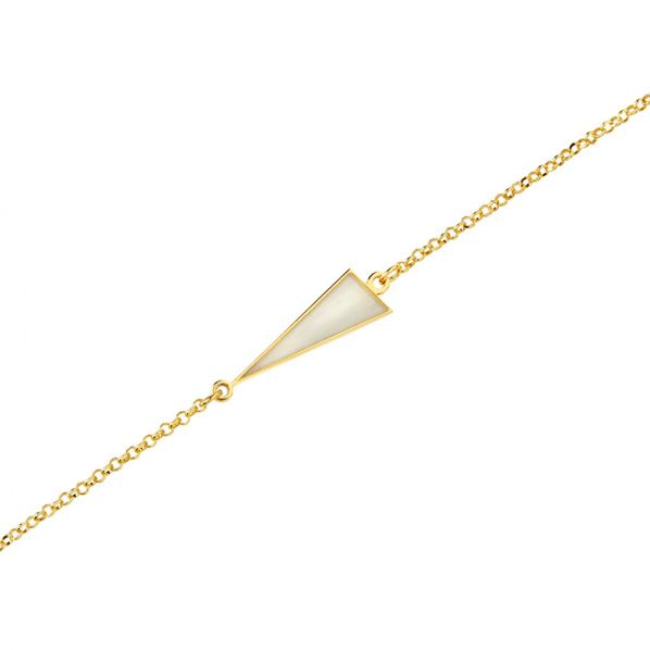 Schemata Bracelet - silver, enamel