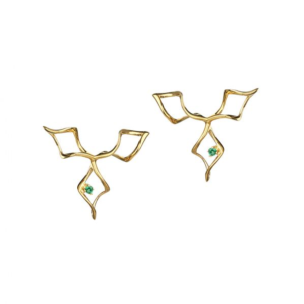 Genesis Earrings - silver, zircon