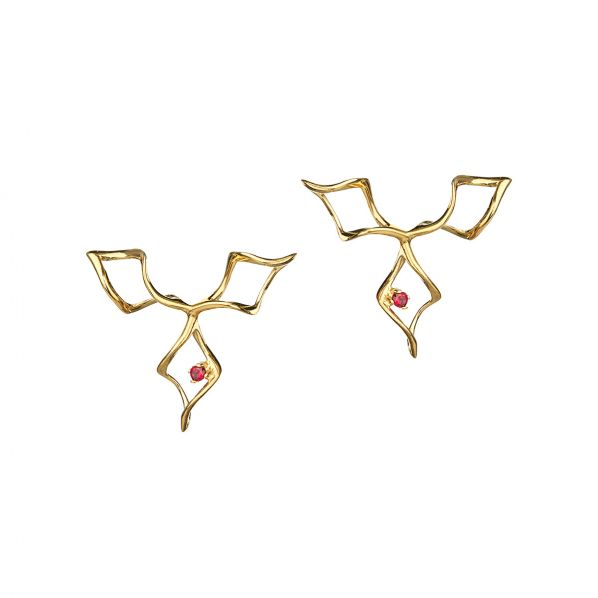 Genesis Earrings - silver, zircon