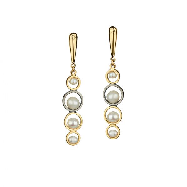 Harmony Earrings - silver, pearl