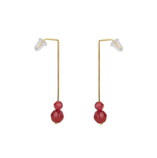 Schemata Earrings - silver, agate
