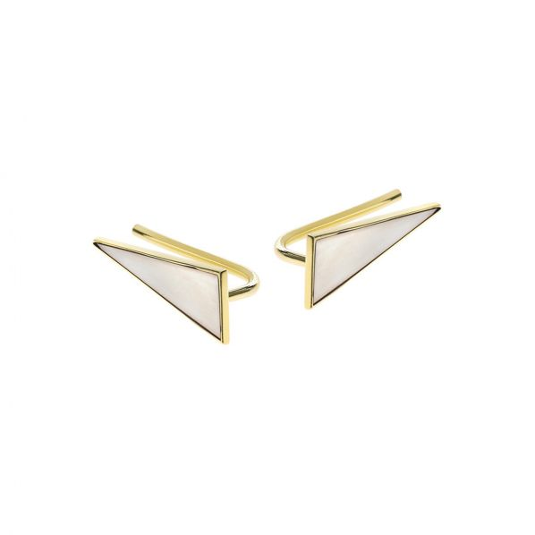 Schemata Earrings - silver, enamel