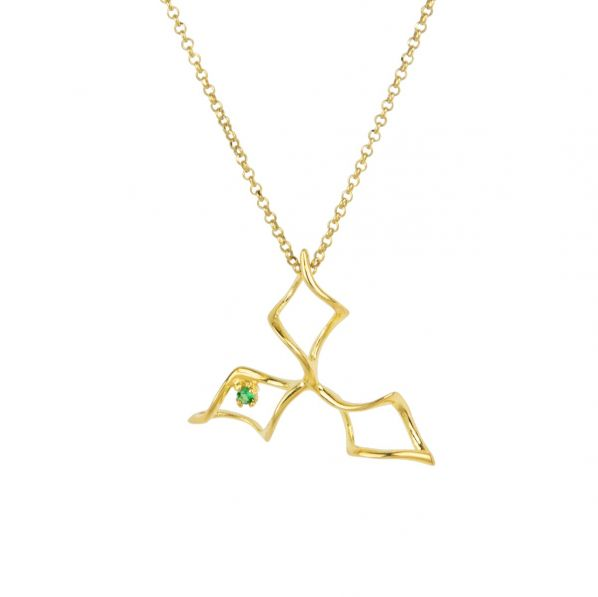 Genesis Necklace - silver, zircon