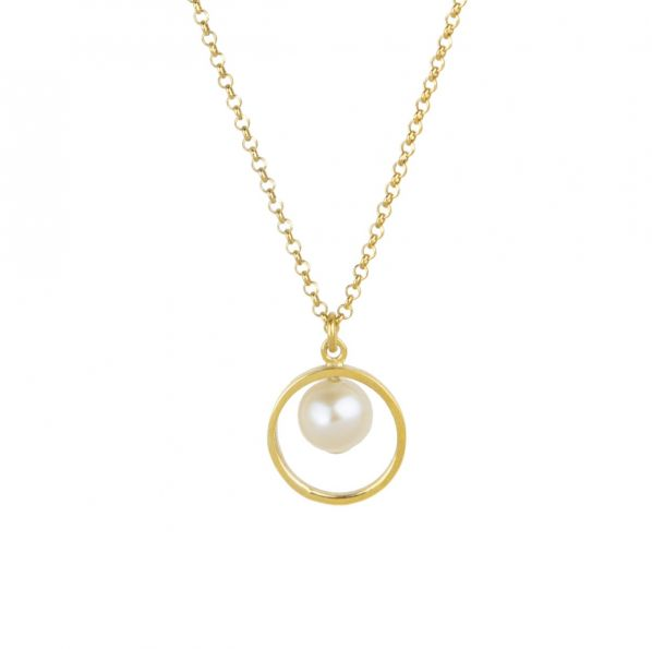 Harmony Pendant - silver, pearl