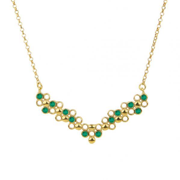Plethora Necklace - silver, zircon
