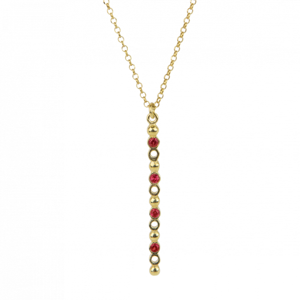 Plethora Pendant - silver, zircon