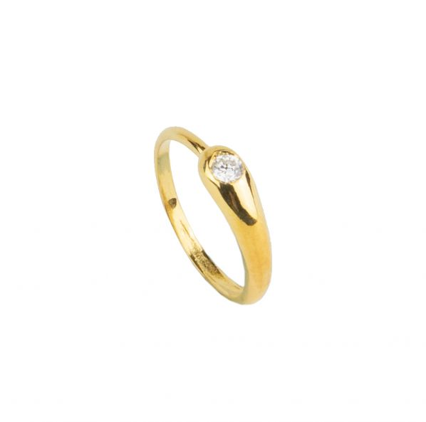 Nostalgia Ring - silver, zircon