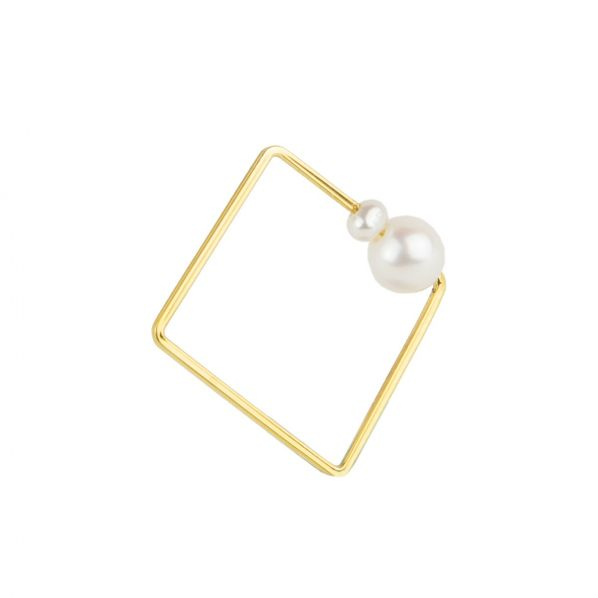 Schemata Ring - silver, pearl