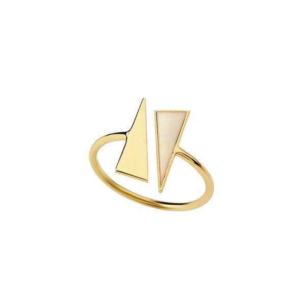 Schemata Ring - silver, enamel